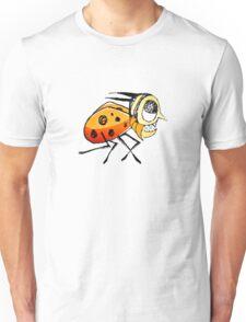 Funny Bug Running Hand Drawn Illustration Unisex T-Shirt