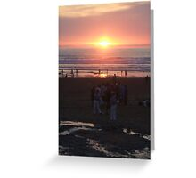 Sunset over Watergate Bay Greeting Card