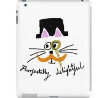purrfectally delightful iPad Case/Skin