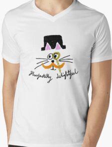 purrfectally delightful Mens V-Neck T-Shirt