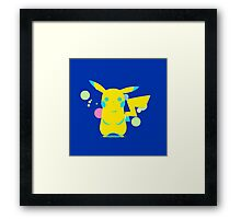 Pokemon - Blue Pikachu Framed Print