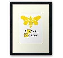 Methylamine Black & Yellow (White) Framed Print