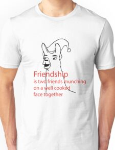 Llamas with hats - friendship Unisex T-Shirt