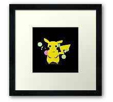 Pokemon - Black Pikachu Framed Print