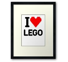 I Love LEGO Framed Print