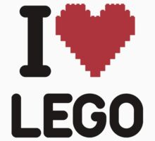 I Love LEGO by NoTeeAmy