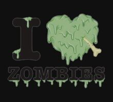 I Love Zombies Kids Clothes