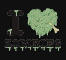 I Love Zombies One Piece - Short Sleeve