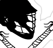 Lacrosse helmet & sticks Sticker