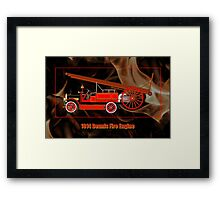 1914 Dennis Fire Engine Framed Print