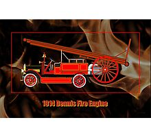1914 Dennis Fire Engine Photographic Print