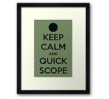 Quick Scope Framed Print