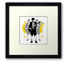 Taking the Lead - Angus Young Framed Print