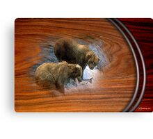 Grizz Canvas Print