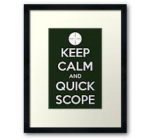 Quick Scope Framed Print