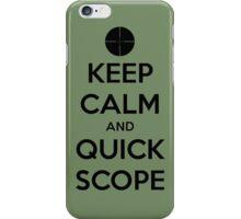 Quick Scope iPhone Case/Skin