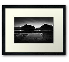 Black Tidal Framed Print