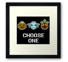 Choose One Mask Framed Print
