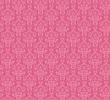 French Damask, Ornaments, Swirls - Pink  by sitnica