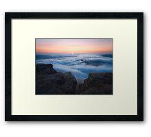 Lilienstein - First Light Framed Print