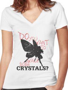 Not Yet! Just a LIttle Longer! (Light) Women's Fitted V-Neck T-Shirt