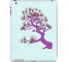Purple Pine Bonsai (Blue Background)  iPad Case/Skin