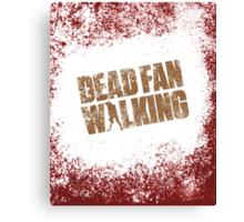 Dead Fan Walking Canvas Print