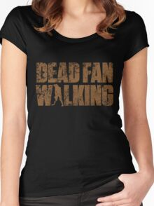 Dead Fan Walking Women's Fitted Scoop T-Shirt