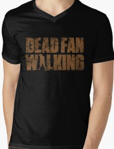 Dead Fan Walking Mens V-Neck T-Shirt