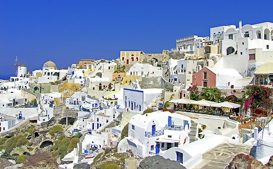 Oia Village by Tom Gomez
