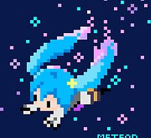 Hatsune Miku - Meteor Pixel Art by fayezfaye