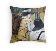 beggars Throw Pillow