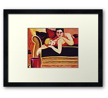 Couch Loafing Framed Print