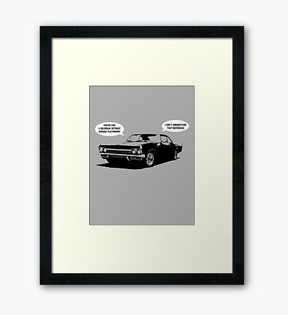 Time travel with Cass Framed Print