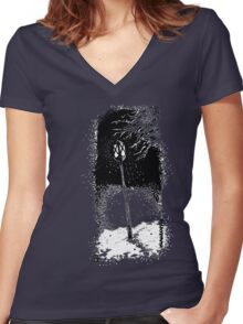 Snow  Women's Fitted V-Neck T-Shirt