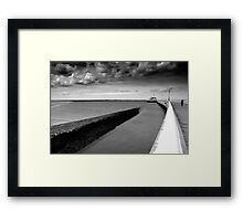 Pier in Oostende (East End) Belgium Framed Print