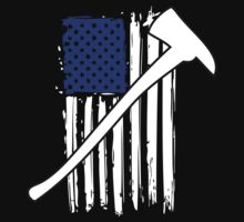 Cool 'Distressed American Flag and Fire Axe' T-shirts, Hoodies, Accessories and Gifts by Albany Retro