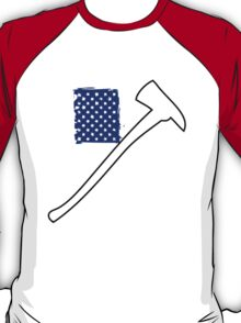 Cool 'Distressed American Flag and Fire Axe' T-shirts, Hoodies, Accessories and Gifts T-Shirt