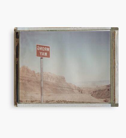 Wrong Way Nevada (8x10 Polaroid) Canvas Print