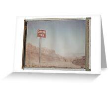 Wrong Way Nevada (8x10 Polaroid) Greeting Card