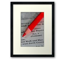 Constitutional Rights - Free State of Bavaria  Framed Print