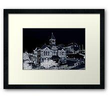 Webster School and Kauffman Center Framed Print