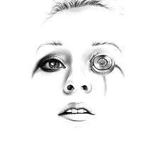 Sci-fi minimalist portrait -- digital painting by Thubakabra