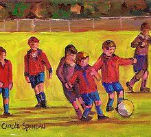 SOCCER GAME  by Carole  Spandau