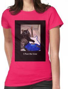 Musical Guitar Cat Womens Fitted T-Shirt