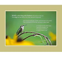 Hope Inspirational Art Photographic Print