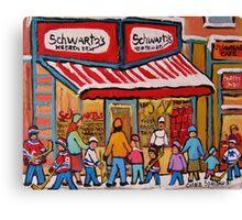 BEST SELLING MONTREAL PRINTS SCHWARTZ'S DELI MONTREAL ART BY CANADIAN ARTIST CAROLE SPANDAU Canvas Print