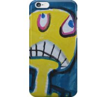 Troy - Graphic Yellow Face With Blue Background iPhone Case/Skin