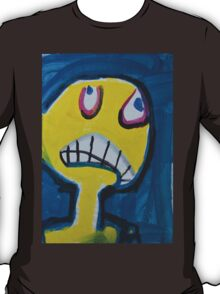 Troy - Graphic Yellow Face With Blue Background T-Shirt