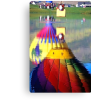 Hot Air Balloons in Reflection Canvas Print